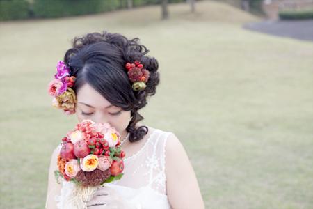 花嫁のブーケ・ヘッドドレスのイメージ写真 オブサン古墳