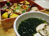 寿司&あおさ海苔入りお吸い物