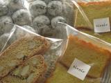 アーモンドビスコッティー・レモンとサワークリームのケーキ・くるみとチョコのスノーボール