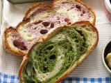 ブルーベリーパン・抹茶&お豆パン