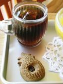 水出しアイスコーヒー&sueさんから頂いたハワイ土産のクッキー