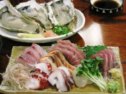 刺身盛り合わせ&生牡蠣