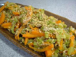 かぶの葉とツナの炒め煮