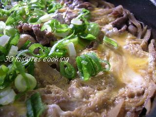 牛肉とごぼうの柳川