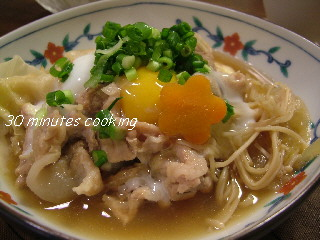 温玉のせ肉豆腐