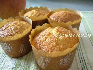 簡単りんごのカップケーキ
