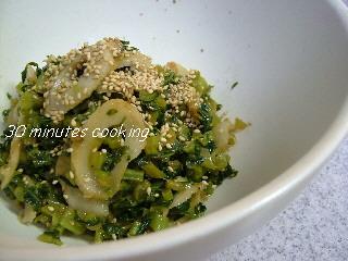 大根の葉とちくわの炒め煮