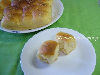 ホームベカリーdeかぼちゃのちぎりパン