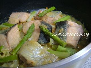 フライパンde鮭のちゃんちゃん焼き