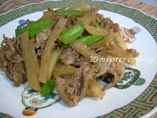 牛肉と大根の中華風炒め