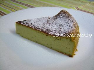 子供と作れる簡単♪抹茶味のベイクドチーズケーキ