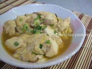 ふんわり豆腐の卵とじ