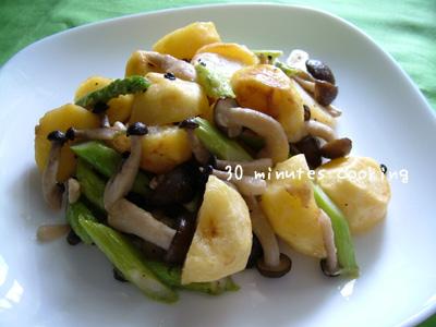 フライドポテトと野菜炒め♪