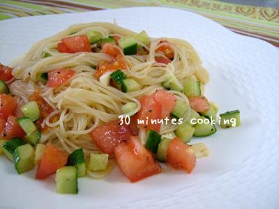 チョー簡単♪サラダ風トマトのカッペリーニ