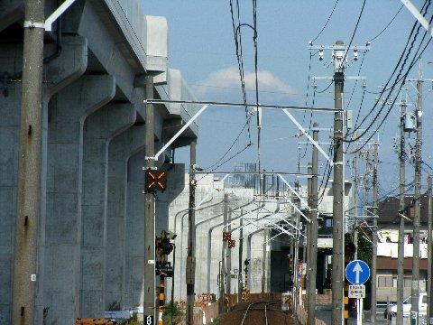 遠州鉄道の高架工事