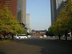 4.御幸通りから東京駅を見る