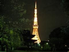2増上寺と東京タワー