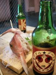 5.小樽地ビールとホウボウの刺身