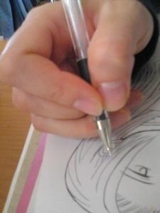 ペンの持ち方w