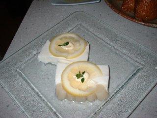 レモンとヨーグルトのムース