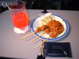 シンガポール航空のサテー