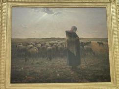 ミレー、羊飼いの少女