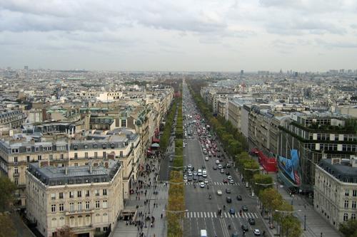 凱旋門からの眺め