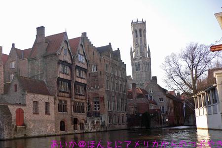 運河と鐘楼