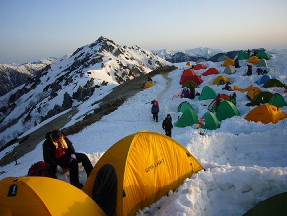 テントと燕岳