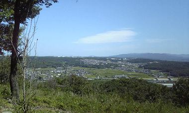 高山山頂の景色