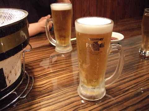 久々の生ビール♪