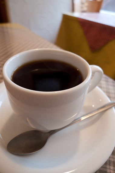 石窯焼き手作りピッツアのチャオ コーヒー