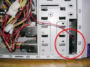 HDD冷却ファン設置
