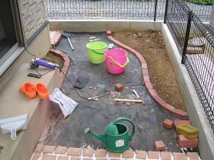 花壇造り2