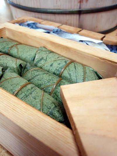 自家製柿の葉寿司