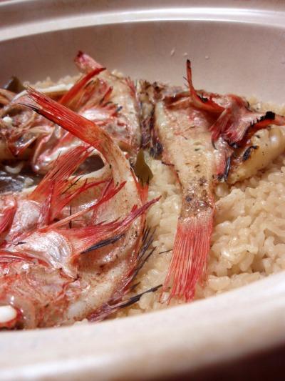 金目鯛の土鍋ご飯