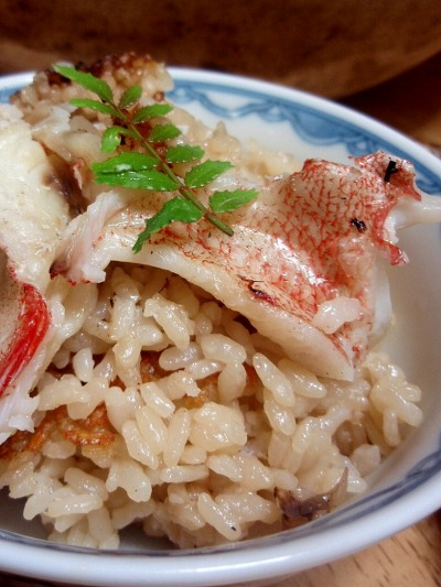 金目鯛の炊き込みご飯
