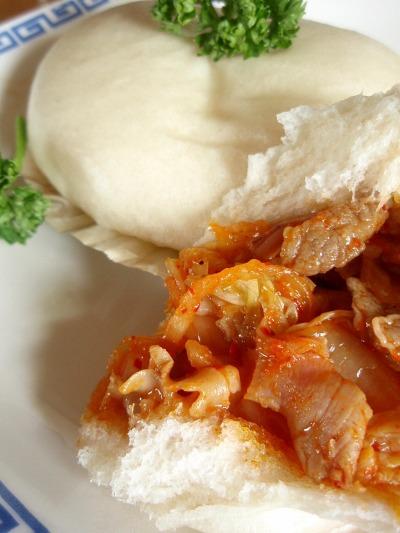 キムチ蒸しパン