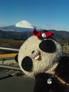 おばぶ大涌谷の富士