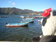 芦ノ湖を眺めて