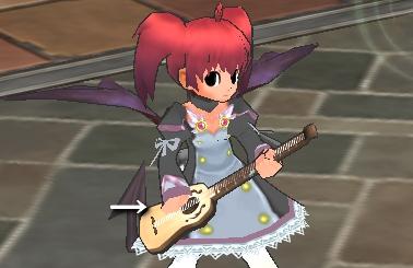 ギターに手突っ込む