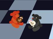 赤・黒クマ