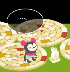 白タイルとカエル