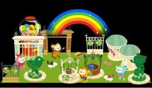 花祭りの王宮庭園