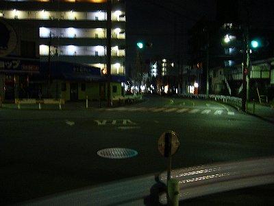 夜景ー交差点
