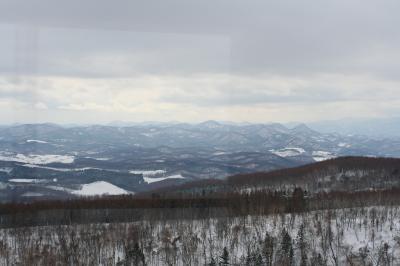 スカイタワーから見える大雪連峰