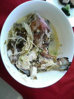 高菜風味魚のスープ