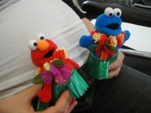 ハワイアンエルモ&クッキーモンスター