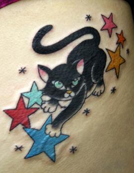 黒猫おしり