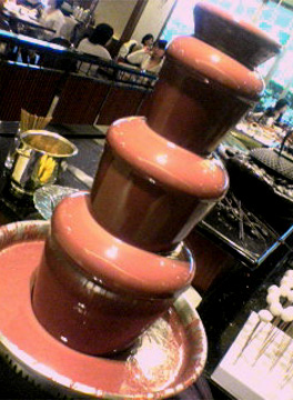 スイスホテル_チョコレートファウンテン